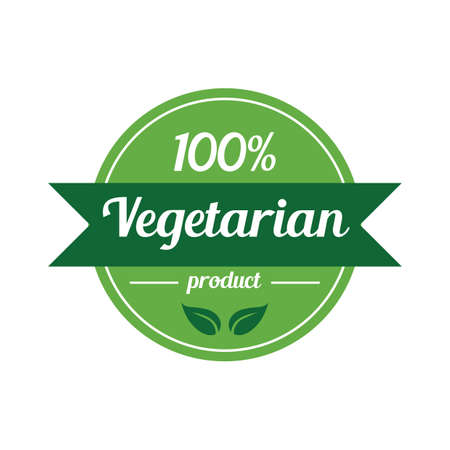 100 percent vegetarian label