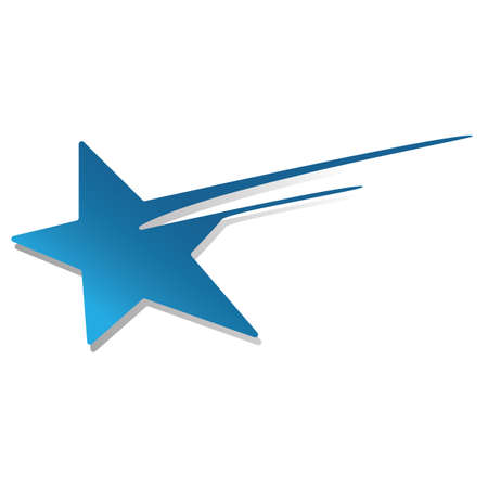 Illustration for shooting star icon - Royalty Free Image