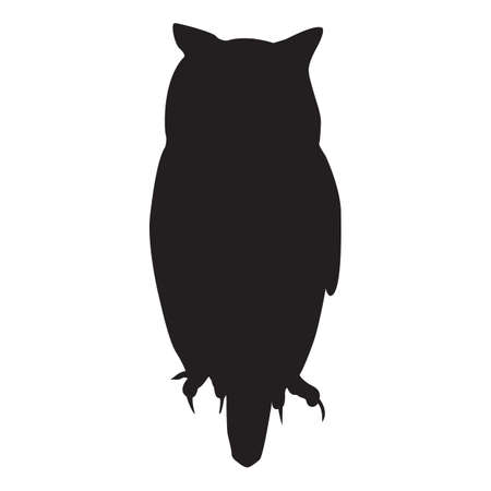 Ilustración de silhouette of owl - Imagen libre de derechos