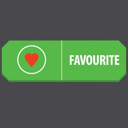 favorite web button