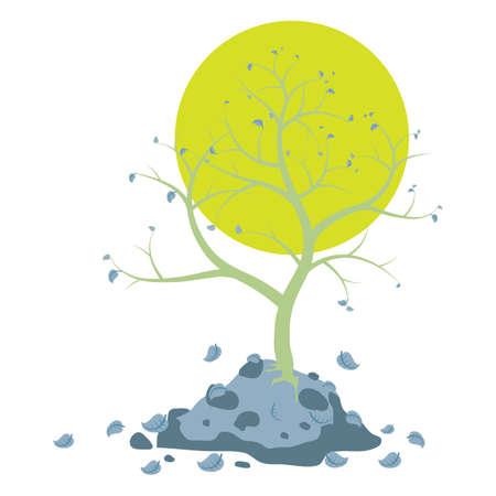Vektor für almost bare tree - Lizenzfreies Bild