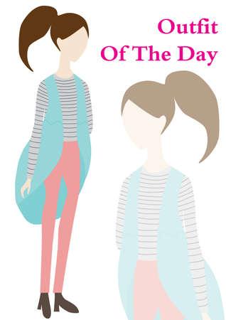 Illustration pour outfit of the day - image libre de droit