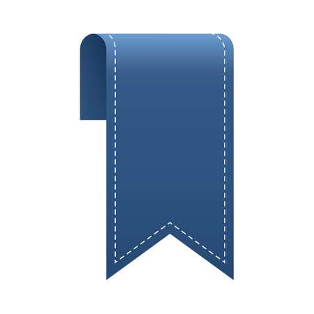 Illustration pour ribbon bookmark design - image libre de droit
