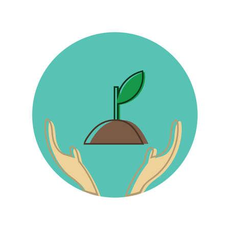 Illustration pour save trees concept - image libre de droit