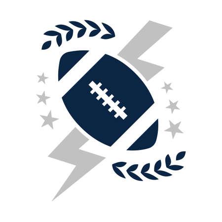 Photo pour american football badge - image libre de droit