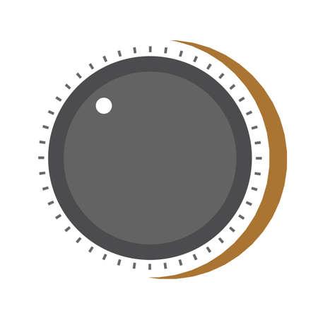 Illustration for volume knob - Royalty Free Image
