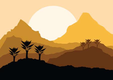 Illustration pour desert landscape - image libre de droit