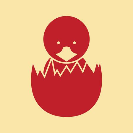 Illustration pour chick hatched from egg - image libre de droit