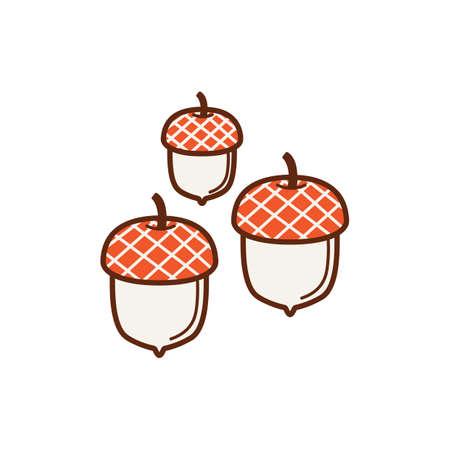 Illustration pour acorns - image libre de droit