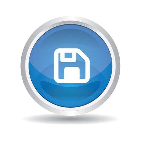 Illustration pour floppy button - image libre de droit