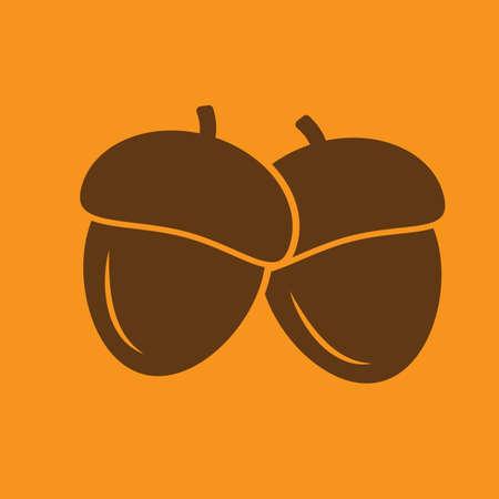 Illustration pour acorn - image libre de droit