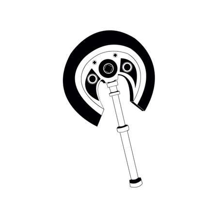Illustration pour double headed battle axe - image libre de droit