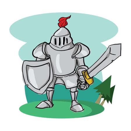 Illustration pour knight - image libre de droit