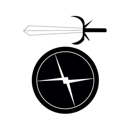 Illustration pour sword with shield - image libre de droit