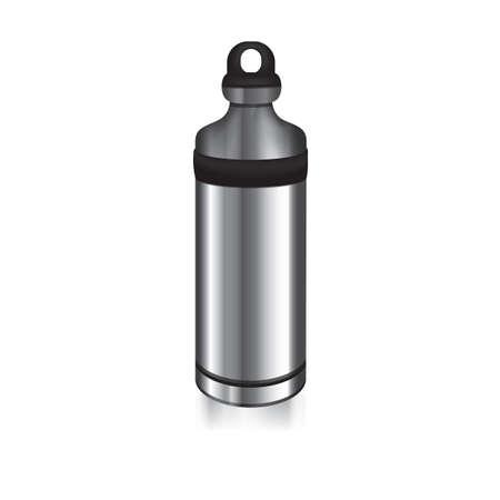 Illustration pour stainless steel water bottle - image libre de droit