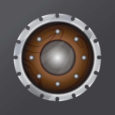Illustration pour viking shield - image libre de droit