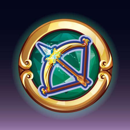 Illustration pour bow and arrow - image libre de droit