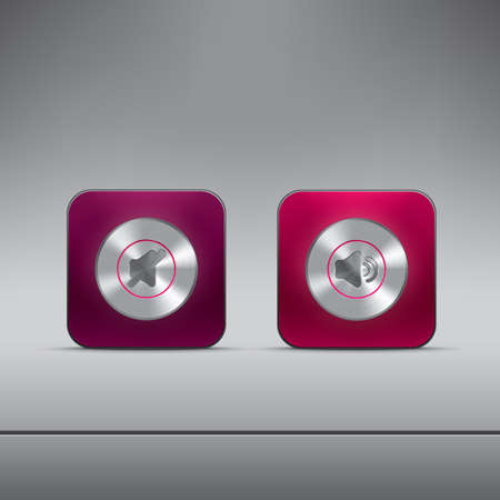 Illustration for media player buttons - Royalty Free Image
