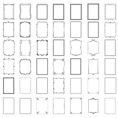 Illustration for various frames - Royalty Free Image