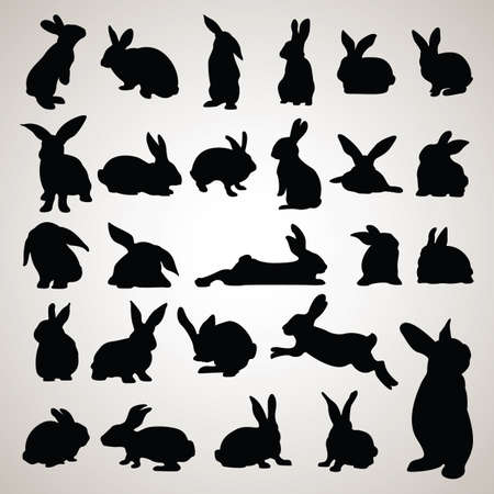 Illustration for rabbit silhouettes - Royalty Free Image