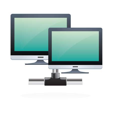 Illustration pour monitors - image libre de droit