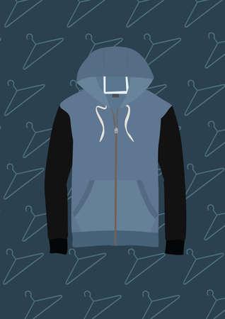 Illustration pour hoodie - image libre de droit