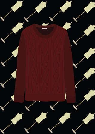 Illustration pour sweater - image libre de droit