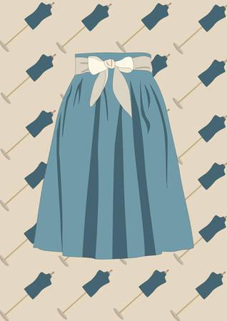 Illustration pour skirt - image libre de droit