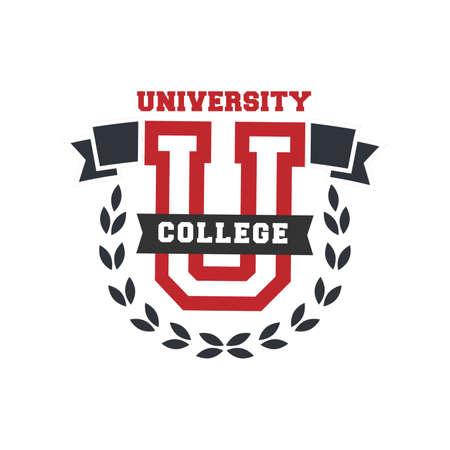 Ilustración de university college logo element - Imagen libre de derechos