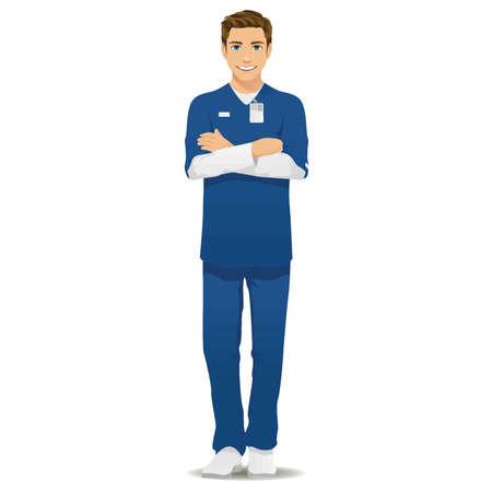 Illustration pour male nurse - image libre de droit