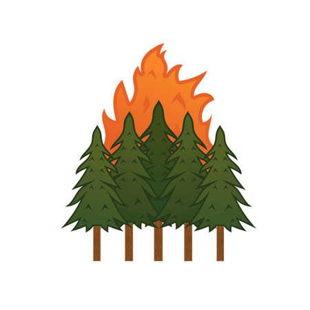 Illustration pour wildfire - image libre de droit
