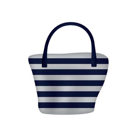 Illustration pour striped handbag - image libre de droit