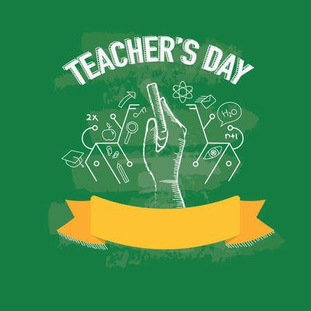 Illustration pour happy teacher's day design - image libre de droit