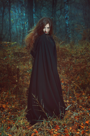 Dark portrait of the forest keeper. Fantasy and gothic