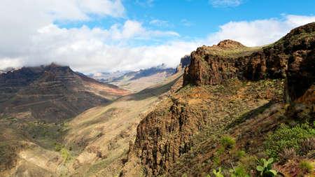 View to the Barranco de Fataga, Gran Canaria, Spain