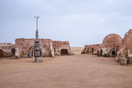 Photo for The original film set used in Star Wars as Mos Eisly space port.  Still preserved in Tunisia - Royalty Free Image