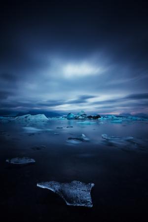iceberg and ice at jokulsarlon lake