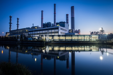Photo pour electric power plant - image libre de droit