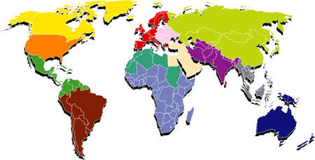 Map shows a world regions, etc Easter Europe