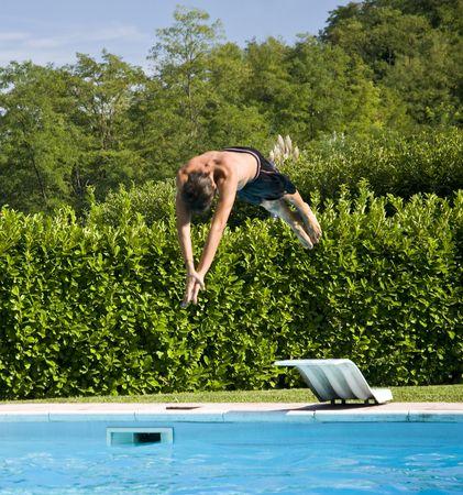 Foto per Tuffo in piscina - Immagine Royalty Free