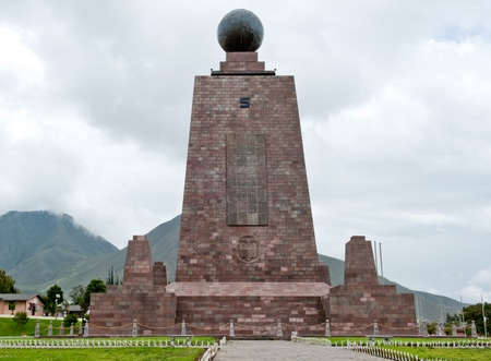 The midpoint of the globe in Quito, Equador