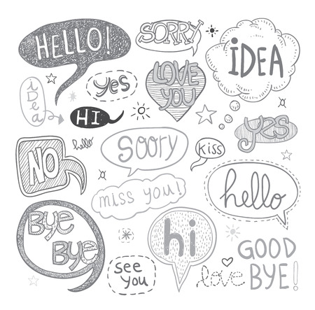 Illustration for Speech bubbles - Royalty Free Image
