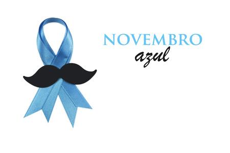 Prostate cancer awareness ribbon.