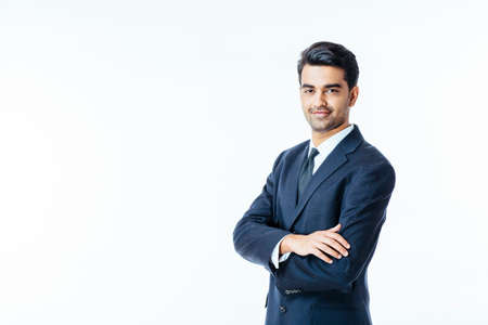 Photo for Portrait of a confident smiling businessman with arms crossed - Royalty Free Image
