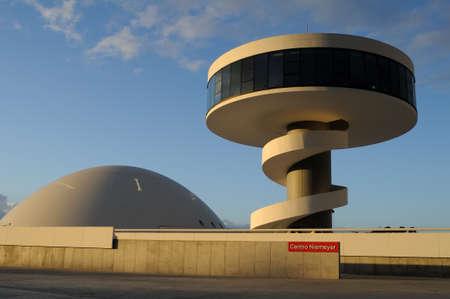 Niemeyer Center  in Ria of AVILES . Principado de Asturias . SPAIN