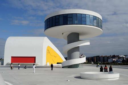 Niemeyer Center  in Ría of AVILÉS . Principado de Asturias . SPAIN