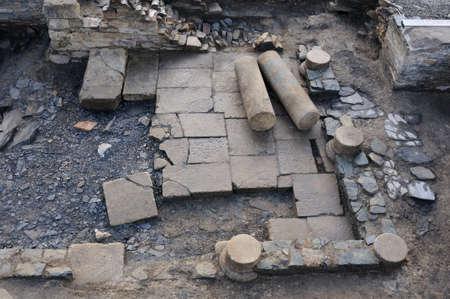 Patio of the  Domus  Archaeological site  Chao Samartin  Asturias SPAIN