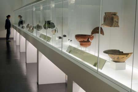 Ceramic  showcase  Terra  Sigillata  Archaeological Museum   Chao Samartin  Asturias SPAIN