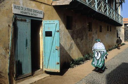 Facade  Musee de la Femme Senegalaise Henriette Bathily  .GOREE ISLAND Dakar Region. SENEGAL.