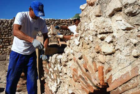 Hypocaust - Thermal Baths restoration of the Roman City of Complutum  ALCALA DE HENARES Madrid  SPAIN